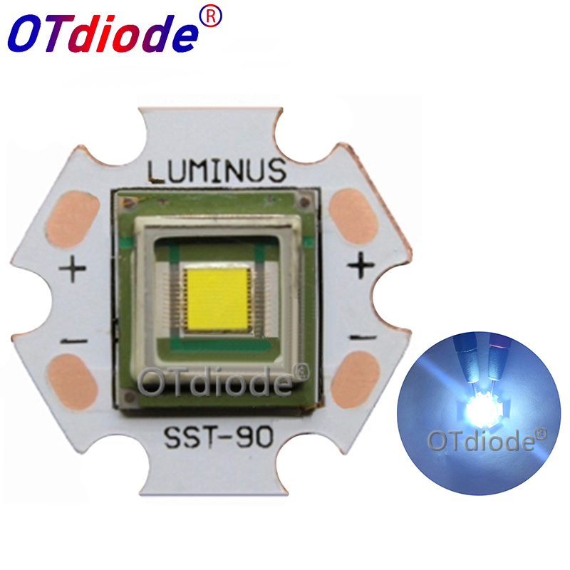 1PCS Original Luminus SBT-90 SBT90 45W high power led lamp beads Red/Cold white Diode Stage light wick Projector Medical source
