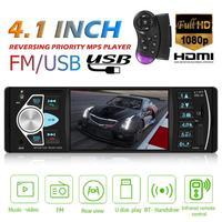 Car Radio Player 1 Din Autoradio 4022D Bluetooth 4.1 Support Rear View Camera Steering wheel control Car Stereo