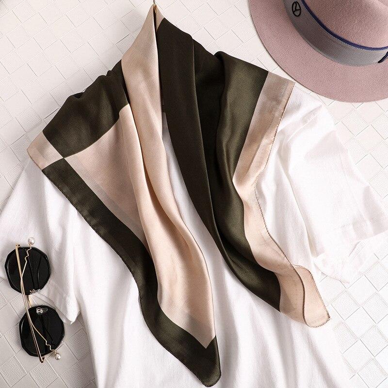 Elegant Women Neck Scarf For Hair Small Shawls Silk Satin Bag Scarfs Female 70*70cm Square Headband Scarves For Ladies Dropship