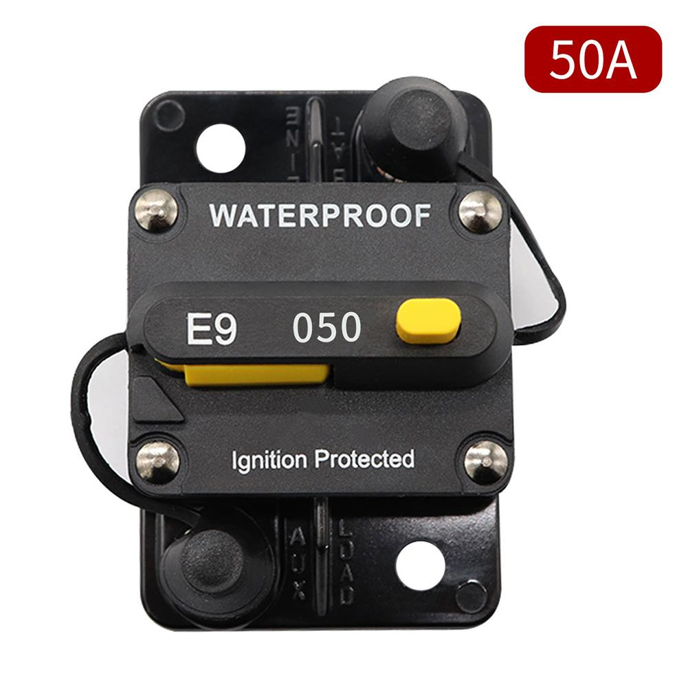 50A Circuit Breaker Overcurrent Protector With Manual Reset For Car <font><b>RV</b></font> Yacht <font><b>Motorhome</b></font> <font><b>Accessories</b></font> image
