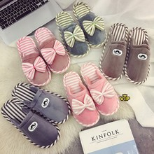 High quality home cotton slippers indoor cute warm thick bottom plush month shoes non-slip holiday men and women couple winter senza fretta summer women shoes home linen slippers couple indoor thick bottom slippers non slip floor shoes
