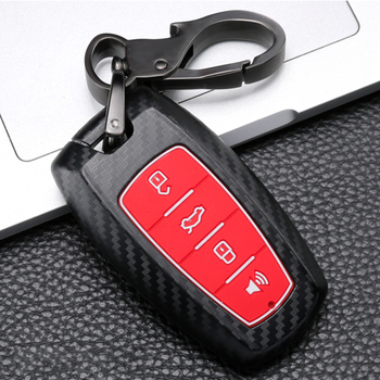 Carbon Fiber ABS+Silicone Car key Cover Case For Great Wall Haval H9 H6 Coupe GMW H7 H2 F7 F7X 2016 2017 2018 2019 Accessories image