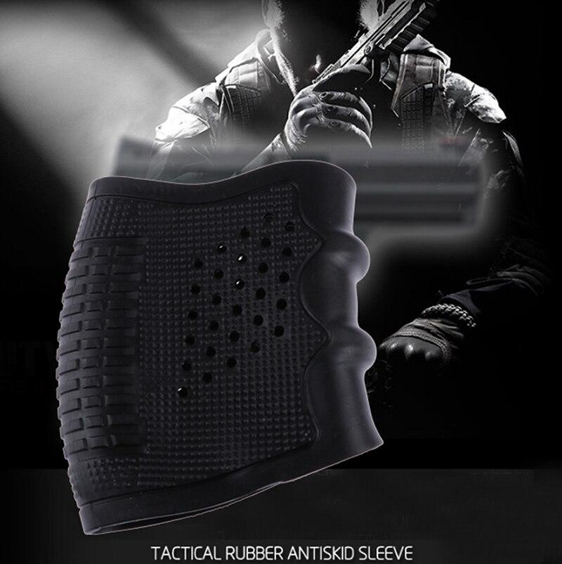 Spedizione gratuita Russia Nuovo Tactical Pistola Pistola di Gomma Protegge La Copertura Guanto Grip universale Anti Slittamento Fondina Caccia Accessori