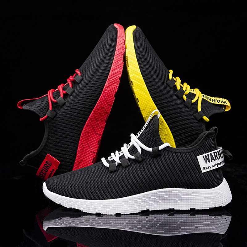 Oeak 2019 yeni örgü erkekler rahat ayakkabılar-up erkek ayakkabısı hafif rahat nefes yürüyüş spor ayakkabı Tenis Feminino Zapatos