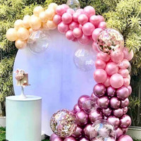 Wedding backdrop stand White Metal circle frame balloom flower holder Party Stage Decoration