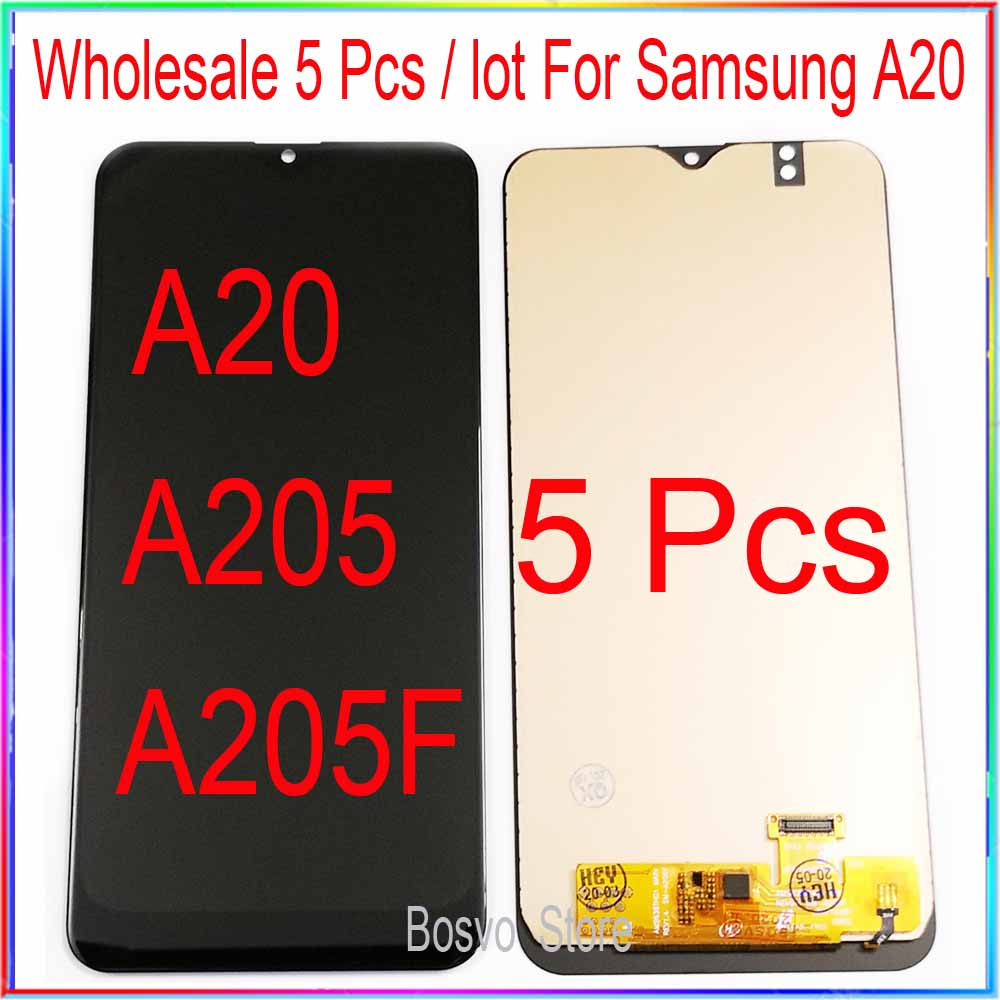 wholesale 5 pieces / lot for Samsung A20 LCD screen display with touch assembly A205 <font><b>A205F</b></font> <font><b>SM</b></font>-<font><b>A205F</b></font> A205FN image