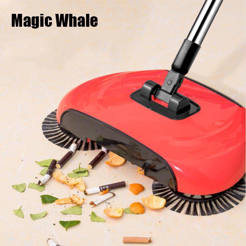 Sweeping-Machine Dustpan-Handle Magic Broom Hand-Push Household Mop Push-Type Stainless-Steel title=