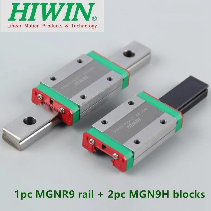 1pc Original Hiwin Linear Rail MGN9 100 150 200 250 300 330 350 400 450 500 600 Mm MGNR9 Guide + 2pcs MGN9H Blocks Cnc Parts DIY