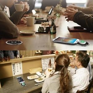 Image 2 - Desktop Drahtlose Ladegerät Schnelle Lade Pad Wasserdichte Stecker Loch Konferenz Tisch Schreibtisch Startseite Büro für iPhone iPad Samsung Huawei