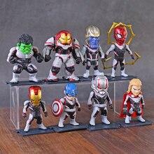 Vingadores final captian américa homem de ferro hulk thor homem formiga homem aranha thanos hulkbuster tema terno figuras brinquedos 8 pçs/set