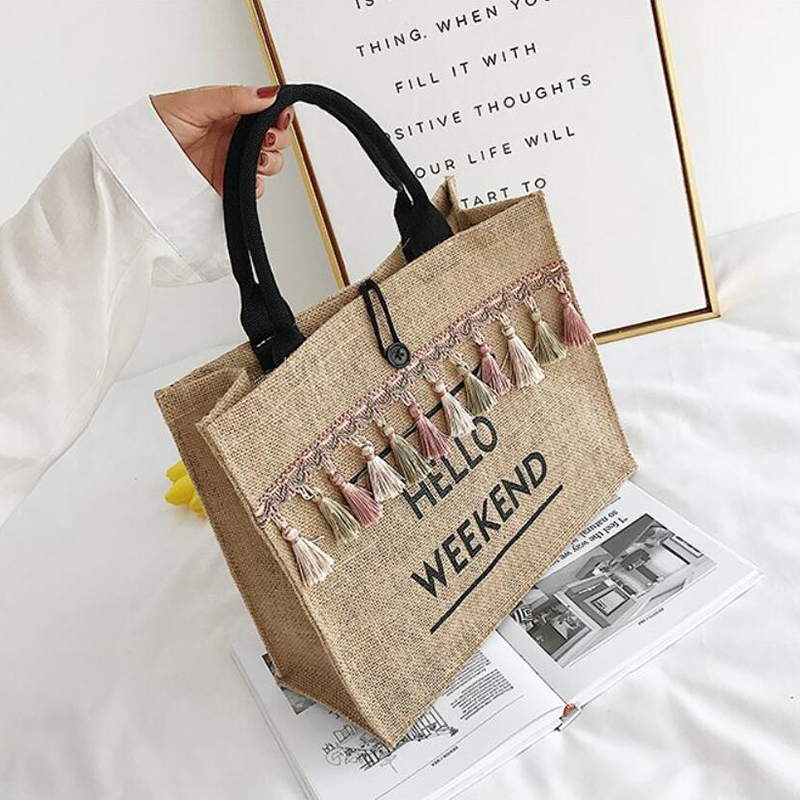 Hello Weekend Hand Bag- Summer Bag