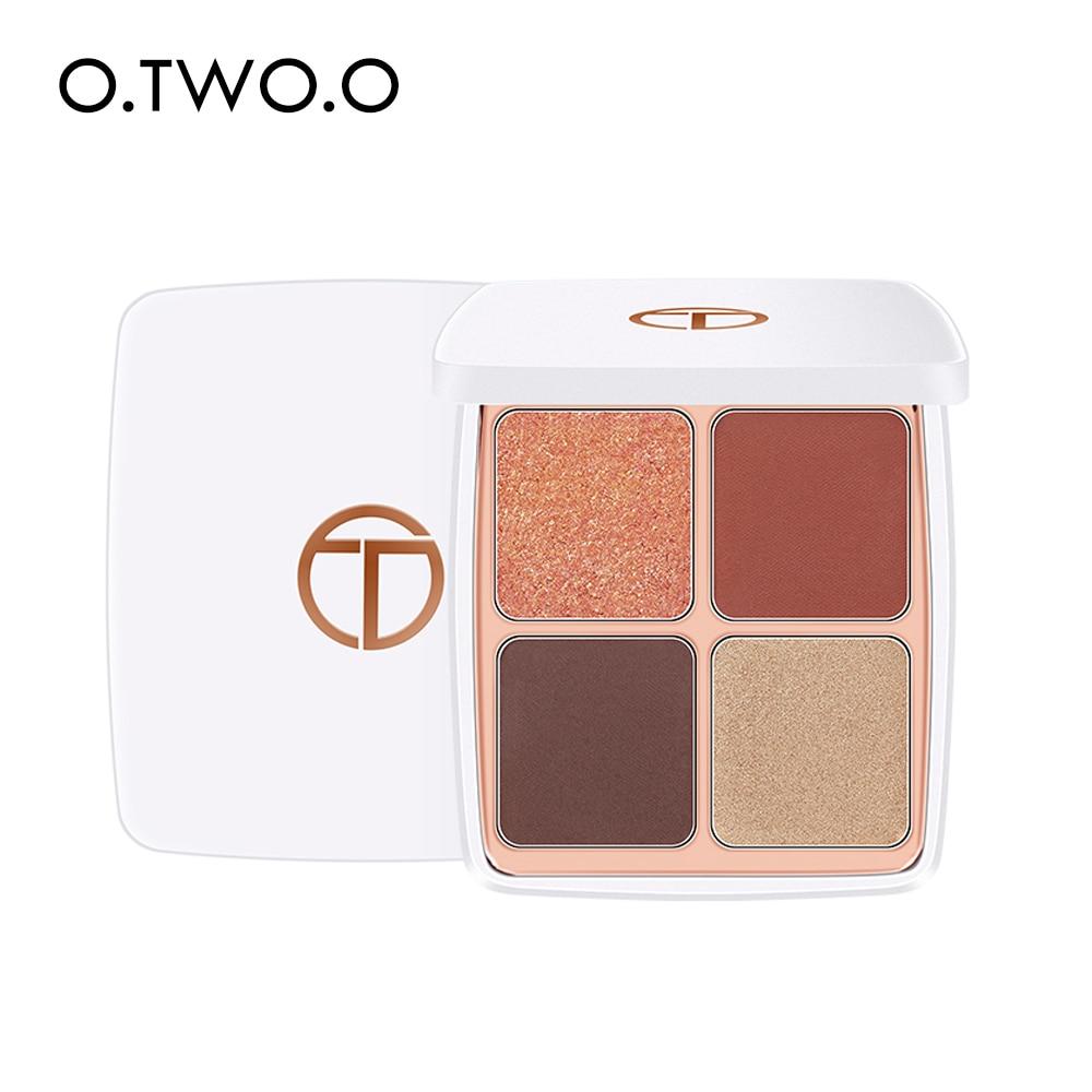 o two o 4 cores sombra brilho paleta alta pigmento impermeavel longa duracao olhos maquiagem fosco