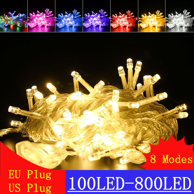 Christmas Decoration Lights String Outdoor&Indoor LED String Lights Holiday Fairy Lights Home Bedroom Garden Wedding Party Tree