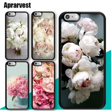 Aprarvest Peony Bouquet White Flower Phone Case For iphone 11 Pro MAX XR XS MAX X 6 6S 7 8 Plus 5 5S Cover Coque(China)