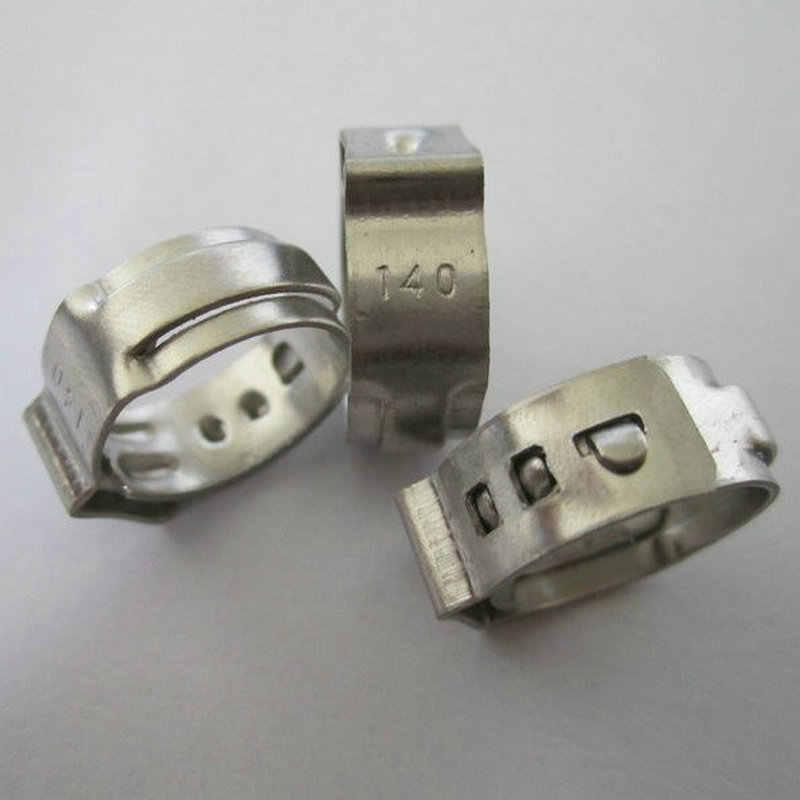 50pcs หูเดี่ยว Clamp SS304 Mini Clamps ท่อสแตนเลสคลิป One Ear Stepless ท่อ Clamp Quick หลอดคลิปขายส่ง