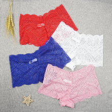 Women's Underpants Whole-Sale Lingerie Boyshort Sexy Lace Hollow-Out Invisible Mid-Rise