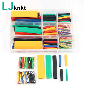 164pcs with box pouch package heat shrink heat-shrinkable tube set electronic diy kit termoretractil gaine thermo cable sleeve - discount item  4% OFF Electrical Equipment & Supplies