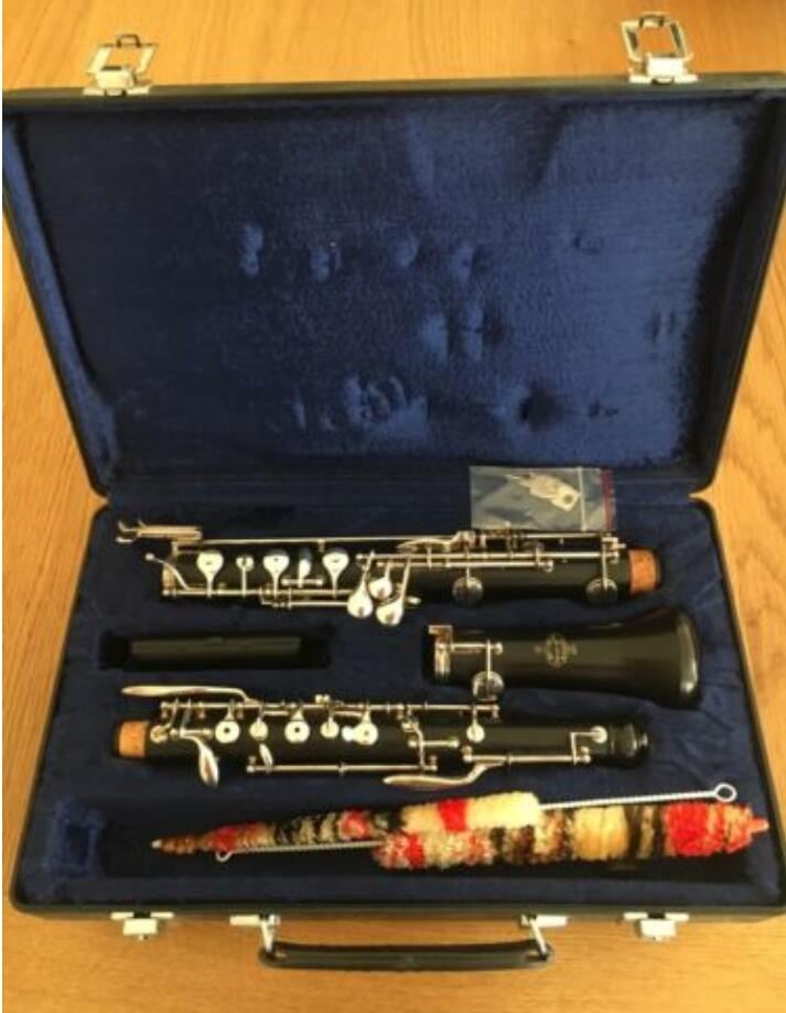 Buffet Student Oboe Ebony C Key Silver Plated Left F Resonance Full Conservatory