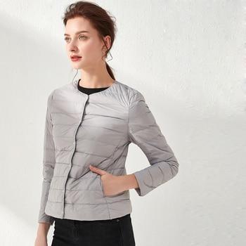 Femme Ultra léger doudoune Portable Parka décontracté duvet de canard manteau chaud Parka léger veste