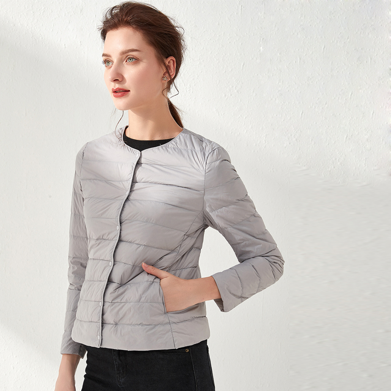 Woman Ultra Light Down Jacket Portable Parka Matt Fabric Casual Duck Down Coat Warm Parka Lightweight Jacket
