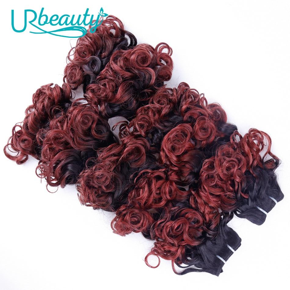 25g/pc Wavy Human Hair 100% Human Hair UR Beauty Non Remy Hair #530 Bug Natural Color Can Choose 10 Inch Wavy Hair Extensions