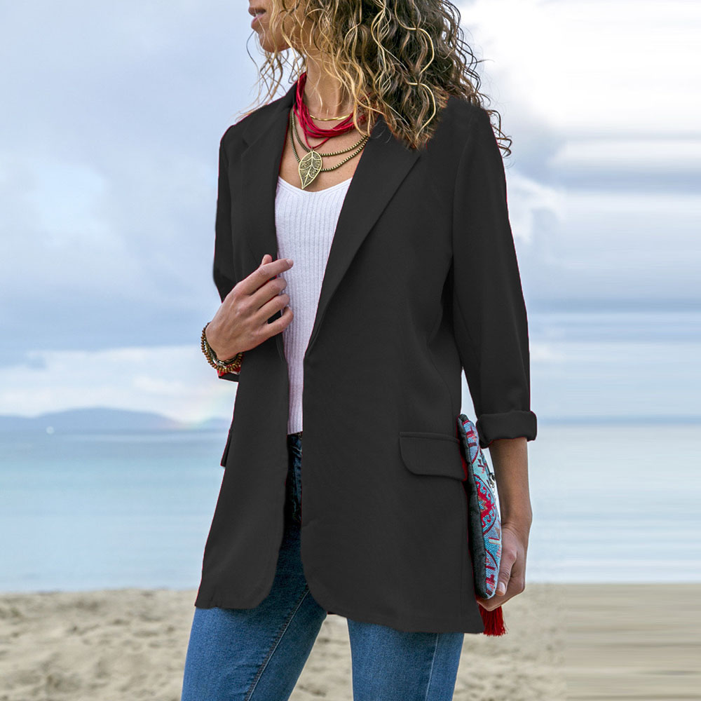 2020 Office Lady Clothes Blazer Suit Coat Work Wear Business Jacket Formal Suit Blazers Solid Color Blazer Robe Femme