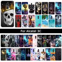 For Alcatel 3C 3 C Soft TPU Silicone Case Colorful Cartoon Cute Cover For Alcate3C 2018 Patterned Back Phone Shells Cases Coque bolomboy painted case for alcatel 1c case silicone soft tpu cases for alcatel 1c 5009d cover wildflowers cute animal bags