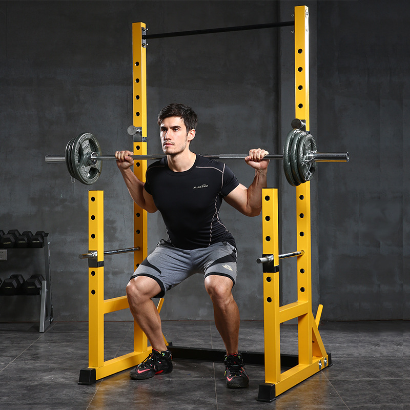 Half-frame Squat Rack Barbell Stand Squat Equipment Fitness Equipment Multi-functional Barbell Suit Household Squat Holder
