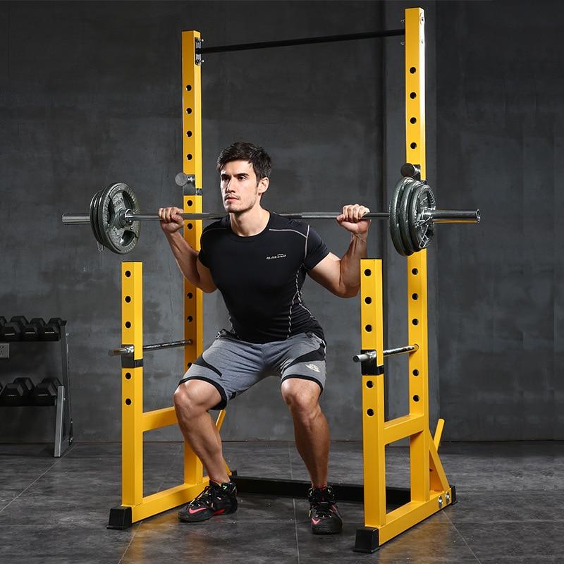 Half-frame Squat Rack Barbell Stand Squat Equipment Fitness Equipment Multi-functional Barbell Suit Household Squat Holder