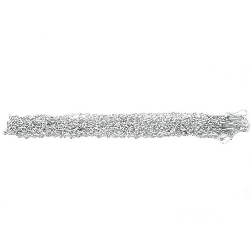 Rede de Basquete Galvanizada do Metal Chain de Aço Forte e Robusto para a Cesta Rede Exterior