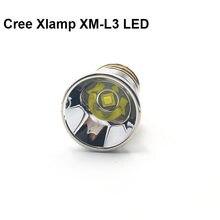 Réflecteur de lampe LED Cree Xlamp 26.5, XM-L3 mm 5A, 5 modes, ampoule pour lampe de poche P60 P61 6P 9P M5 M6 501B 502B