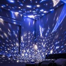 Night-Light Decor-Projector Baby-Lamp Rotating Star Moon Kids Bedroom Galaxy Children