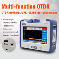 OTDR 850/1300/1310/1490/1550/1625nm Optional Wavelength Fiber Optic OTDR Reflectometer FTTH With VFL OPM OLS Event Map