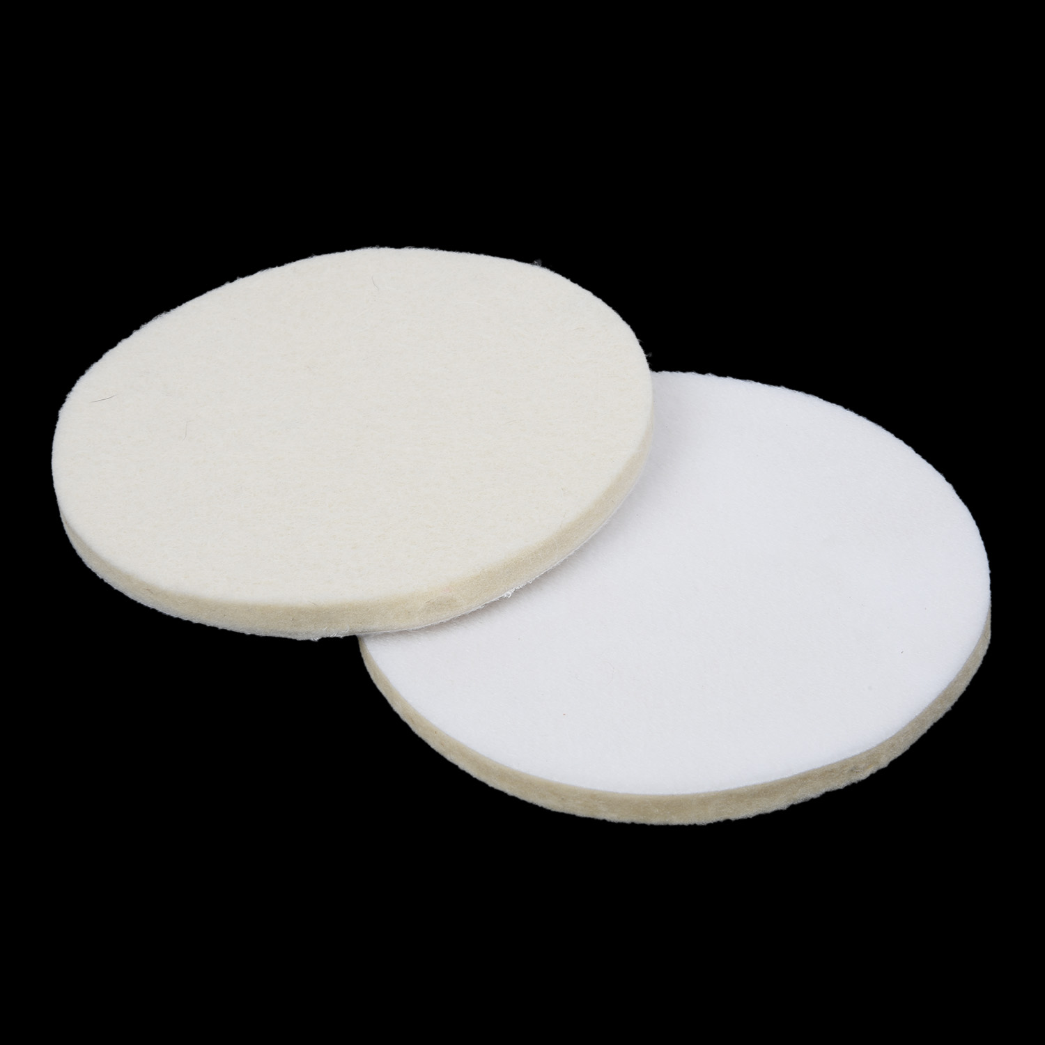 2pcs 5 Inches 125 Mm Wool Felt Polishing Pad  Wheel For Glass Stainless Steel Brand New And High Quality