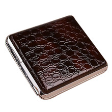 Retro Leather & Metal Cigarette Box Pouch Case Holder Tobacc