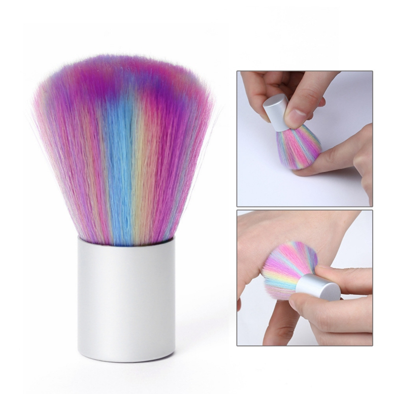 New Nail Brush Cleaning Remove Dust Powder Nail Art Manicure Pedicure Soft Remove Dust Acrylic Clean Brush For Nail Care Tool