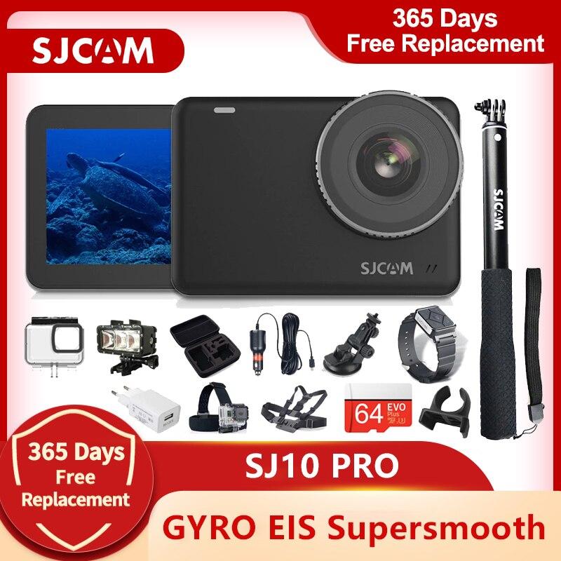 Cámara de Acción SJCAM SJ10 Pro Gyro EIS supersuave 4K 60FPS WiFi control remoto de la batería 1300mAh Ambarella H22 10m cuerpo impermeable SportDV