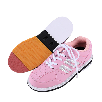 Woman Bowling Shoes Right Hand Non-slip Breathable Woman Bowling Shoes Lightweight Feature Sneakers Flat Indoor Sports Shoes