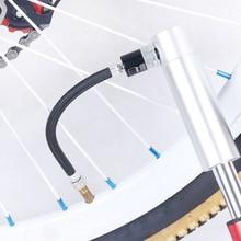 2Pcs/set 155*7.5mm Portable Bicycle Black Pump Extension Hose Inflatable Tube Air Accessories Parts