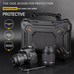 Image 4 - Tactical Gun Pistol Camera Protective Case Safety Case with Foam Padded+Safety Lock Dustproof Waterproof Hard Shell Pistol Box