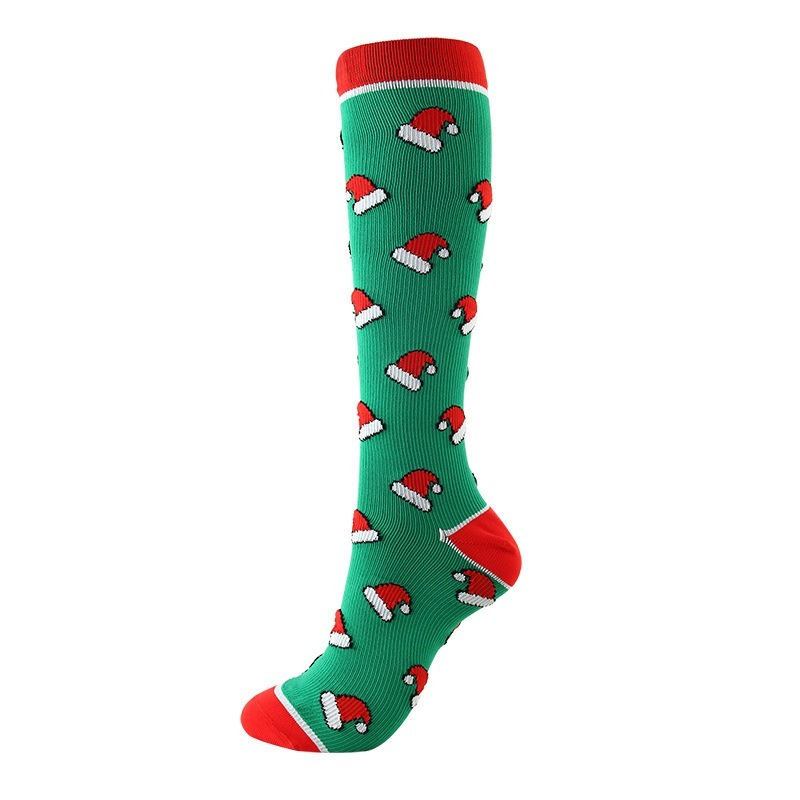 New Unisex Compression Socks Christmas Stockings Knee High Crew Plus Size Outdoor Funny Elastic Men Party Gifts Calf Stockings