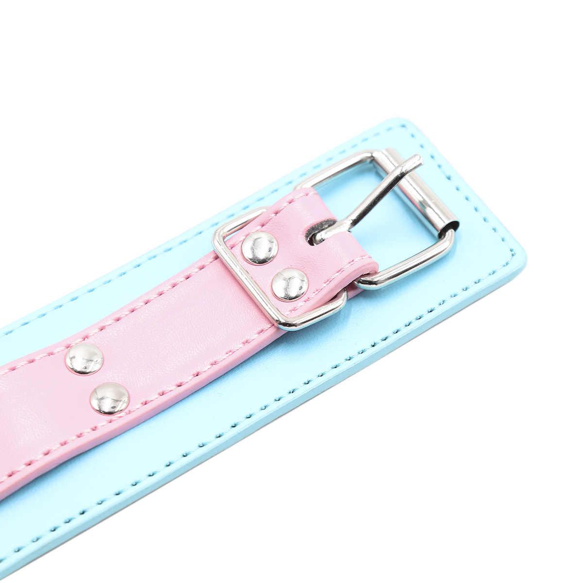 Sex Halsbanden Met Leash Voor Vrouwen Mannen Pu Lederen Slave Kraag Ketting Verstelbare Erotische Koppels Seksuele Toys Sex Meubels