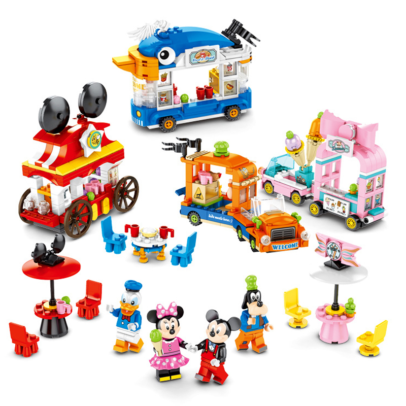 2020 New Disneyinglys Mickeyed Mouseed Donalded Ducked Compatible Legoinglys Disneyinglys Building Block Toys For Children Gift