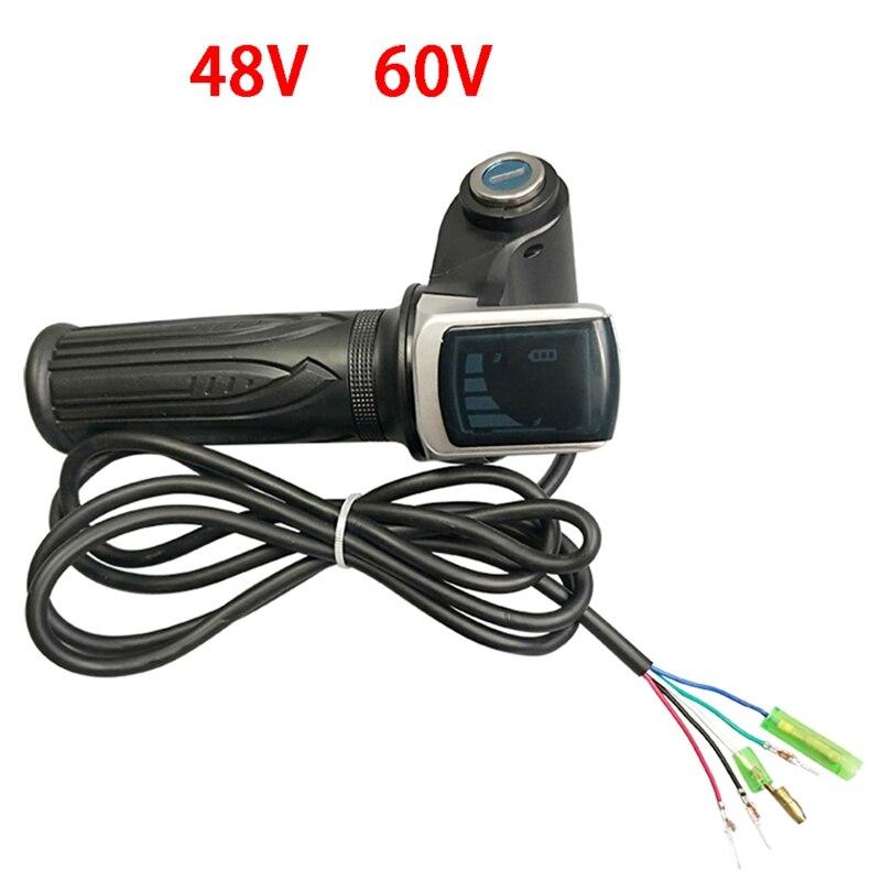 Bike Twist Throttle for Electric Bike Throttle Gas Handle Throttle LCD Display Lock Key