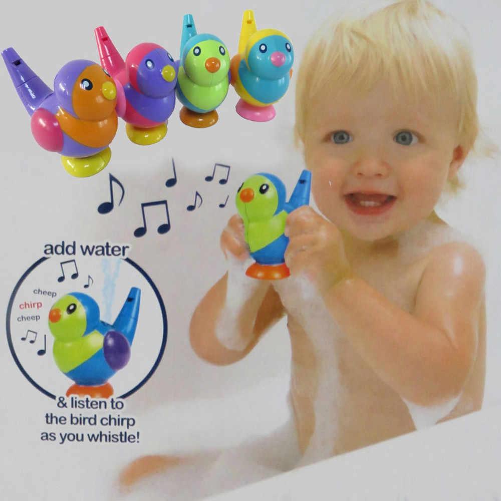 الأطفال الكرتون الطيور الأشكال صافرة حمام الطفل لعب الاطفال 4 ألوان الموسيقية مفيدة إضافة المياه الحمام التعليمية مضحك اللعب