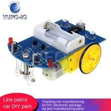 Free Ship 1PCS Intelligent Tracking Car Kit D2-1 Line Patrol