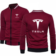 2020 new Men's pullover Tesla car logo printing Spring Autumn New Fashion high quality cotton Casual Sweatshirt(China)