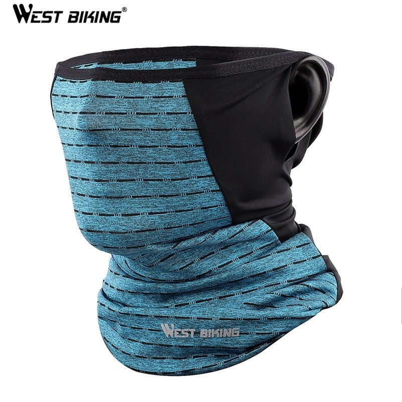 WEST BIKING Summer Cycling Half Face Mask Skin Cool Ice Silk Breathable UV400 Protection Sports Headwear Bike Headband Mask|Cycling Face Mask|   - AliExpress