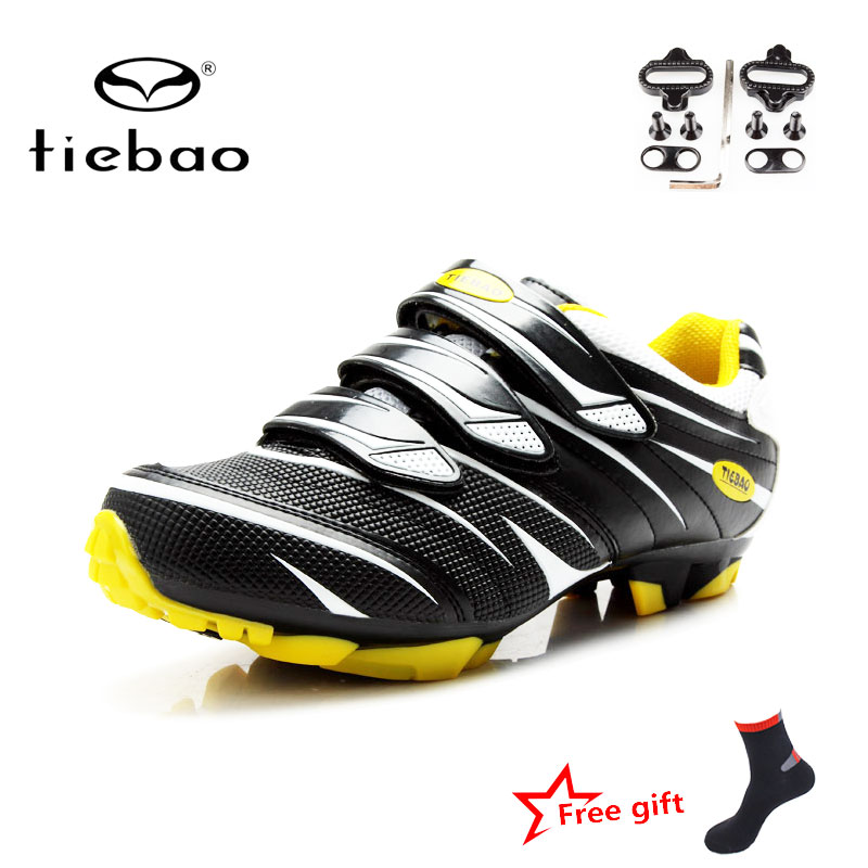 Tiebao Men Cycling Shoes Self-Locking Bike Shoes Racing Athletic Shoes Breathable Professional MTB Shoes zapatillas ciclismo mtb