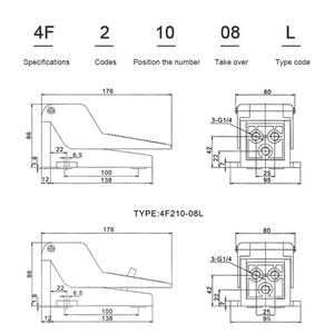 Image 5 - Pneumatic control valve air valve FV420 switch foot valve 4F210 08 foot pedal 320 cylinder valve pneumatic foot pedal